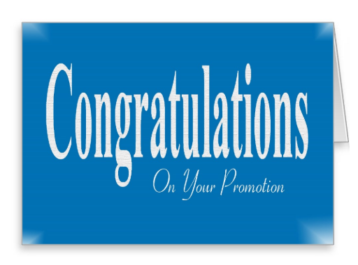 Congratulations To Employee On Promotion