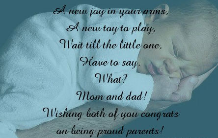 Congratulations To First Time Parents