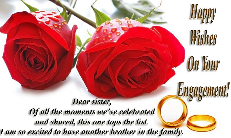 Engagement message for sister