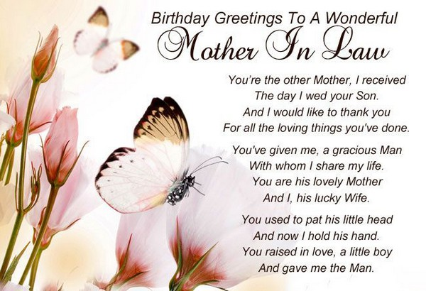 Happy birthday in heaven mother in law