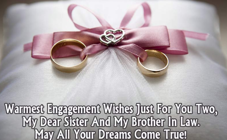 Happy Engagement Wishes For Sister