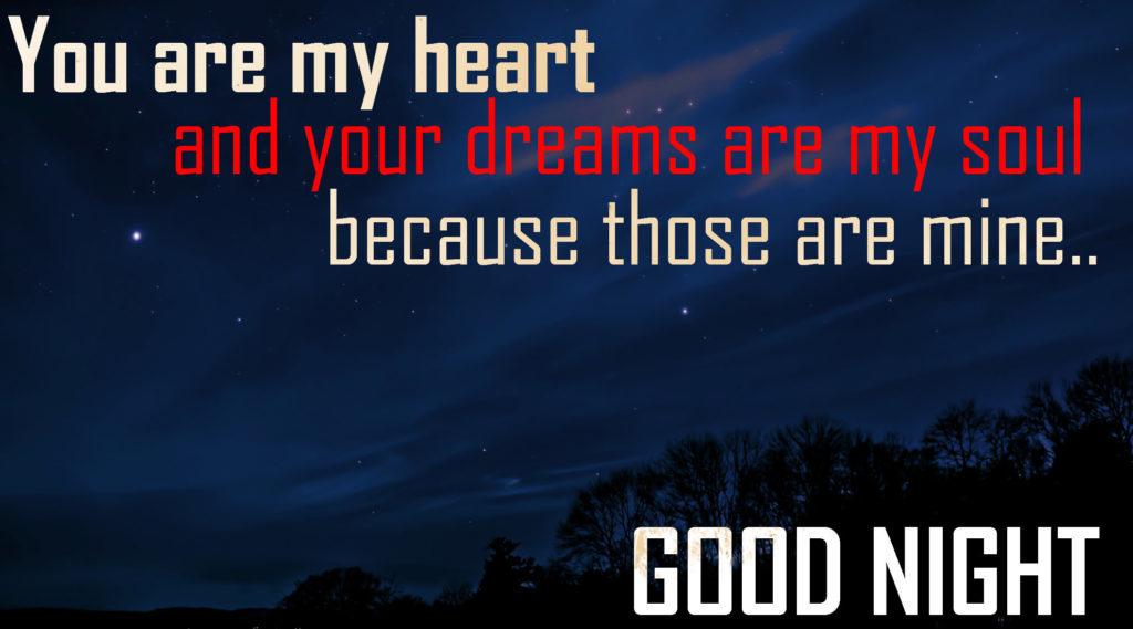 Good night honey i love you