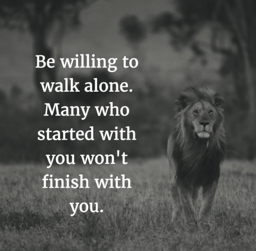Quotes About Walking Alone