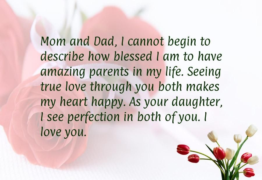 Anniversary wishes for parents from daughter