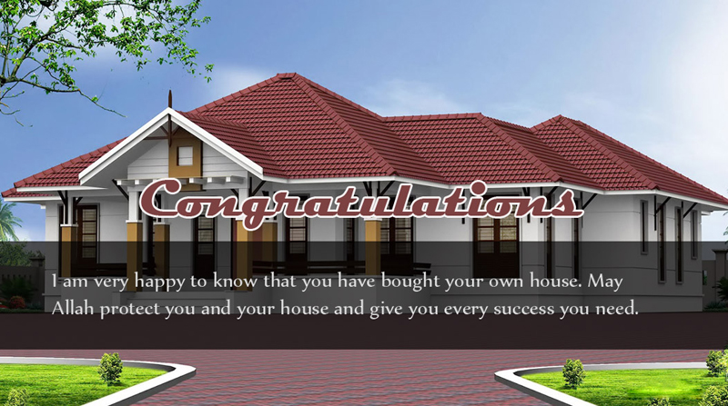 Congrats for new house