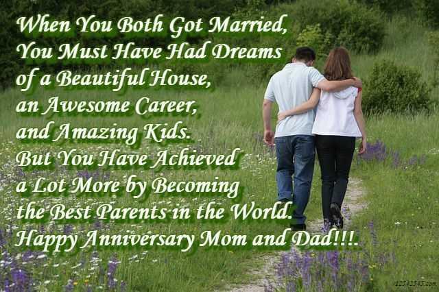 Happy anniversary papa mummy