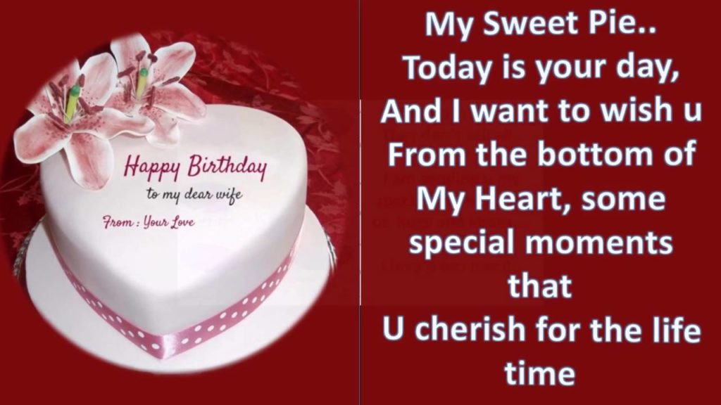 Happy birthday message for wife