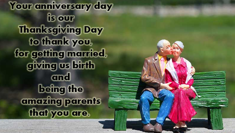 Happy marriage anniversary to mom and dad