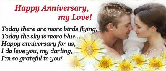 Anniversary status for wife