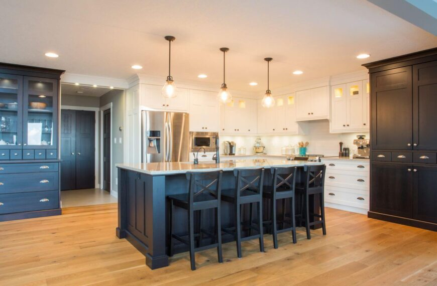 What is the most durable solution for a kitchen floor?